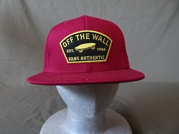 バンズ【OFF THE WALL】  スケボーロゴ刺繍ワッペン付CAP