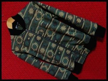 SALE ネイティブ迷彩カモフラスエットMA-1ジャケット/M ナバホ
