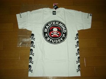 新品Stussy x mastermind JAPAN Circle Skull Tee白S Tシャツ