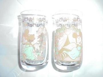 Minnie, l'angelo del mare ミニーマウスグラス2種2点長期保管品