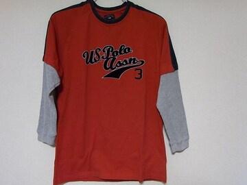 即決USA古着ロゴデザインTシャツ赤!ヴィンテージアメカジレア