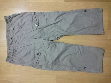 ウエストゴム楽々パンツ 裾ボタンで折り返し可能