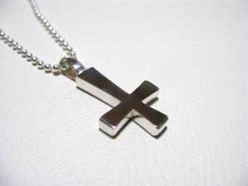 仁尾彫金『逆十字クロス』89十字架ハンドメイドb