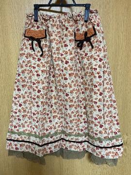 ベティーズブルー 花柄スカート