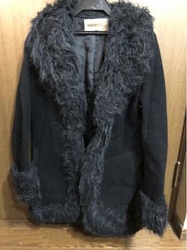 美品 スウェードコート 黒 9号