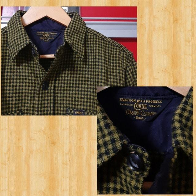 購入19740円 cootie ウール チェックシャツ S kj 降谷 美品 < ブランドの
