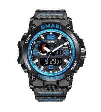 SMAEL 1545D スポーツウォッチ(ブラック・ブルー)