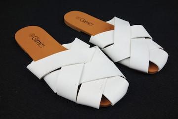 SALE!レディース サンダル ホワイトフラット  22.5cm