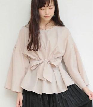 新品☆SESTO(セスト)ウエストリボンペプラムブラウス☆