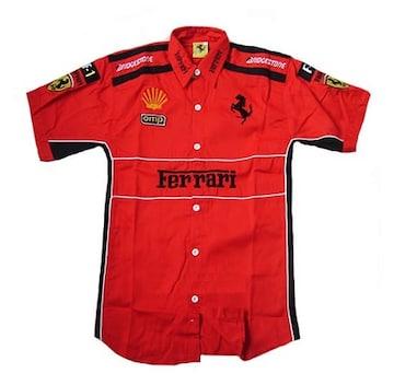 1セール! フェラーリ ロゴ  シャツ XL f177