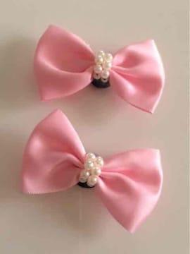 ピンクにパール飾り大人にも可愛いクロックスジビッツヘアピン可