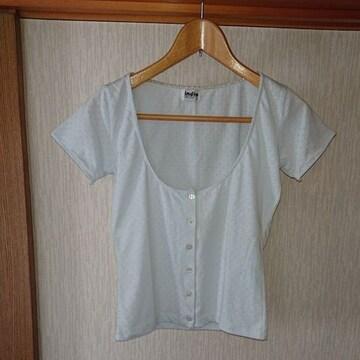 美品  indio  花模様編み 半袖 カ—ディガン M