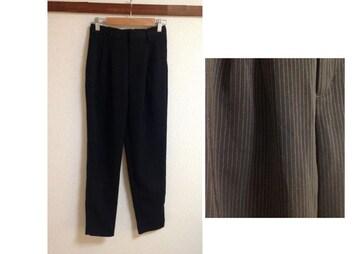 GU ジーユー◆ピンストライプ サラサラ ブラック パンツ S