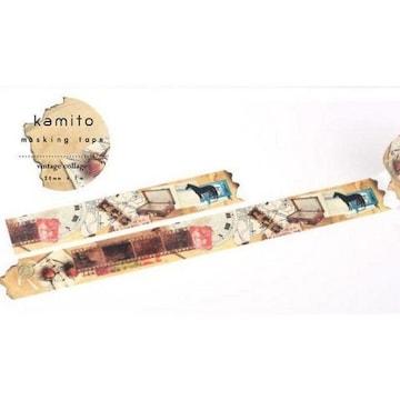 廃盤COVO kamito紙と人vintage collageマスキングテープ