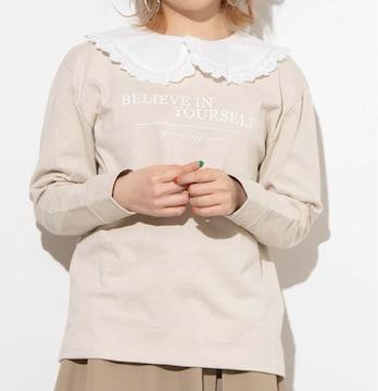 WEGO レースカラーロングTシャツ ホワイト