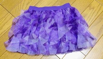 インポートカモフラ柄 紫 スカート 3Tサイズ チュチュ 迷彩
