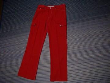 FLAT GOLFのパンツ(赤)M!。