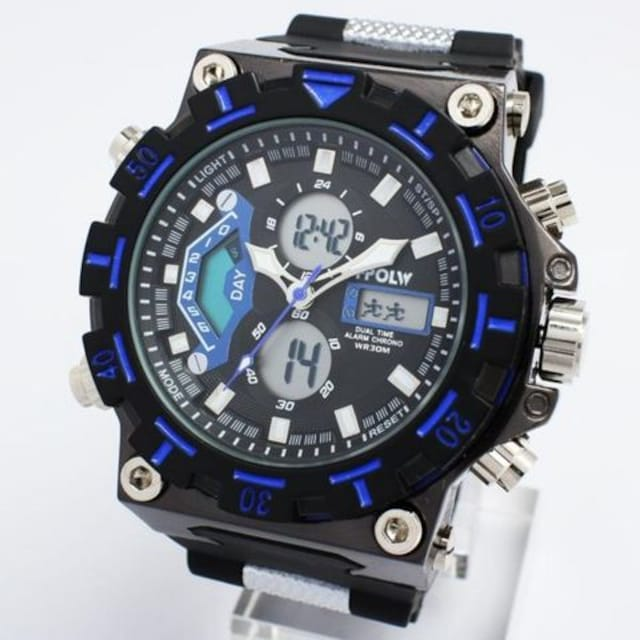 ★アナ&デジ・ダイバーズウォッチ風・MF・腕時計628BB < 男性アクセサリー/時計の
