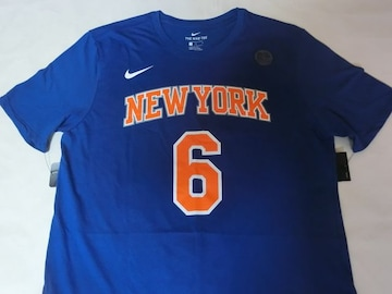 Nike製【DRI FIT】NY KNICKS ポルジンギス ナンバーTシャツUS M