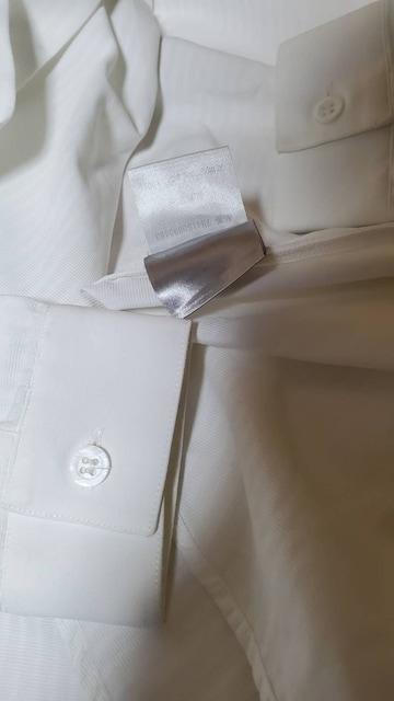 正規レア ディオールオム スタンドカラー 細身ドレスシャツ 白 シャドーストライプ 最小 36P < ブランドの