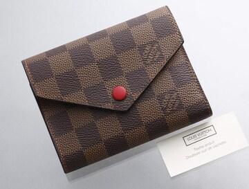 K0609M 超美品 ヴィトン ダミエ ヴィクトリーヌ 三つ折 財布