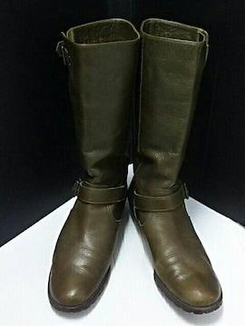 最値定3万!日本製!銀座ダイアナ高級牛革レザーエンジニアブーツ 23cm