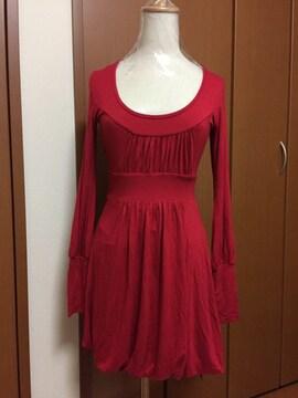キレイ系♪背中セクシー☆新品♪バルーンミニワンピース☆