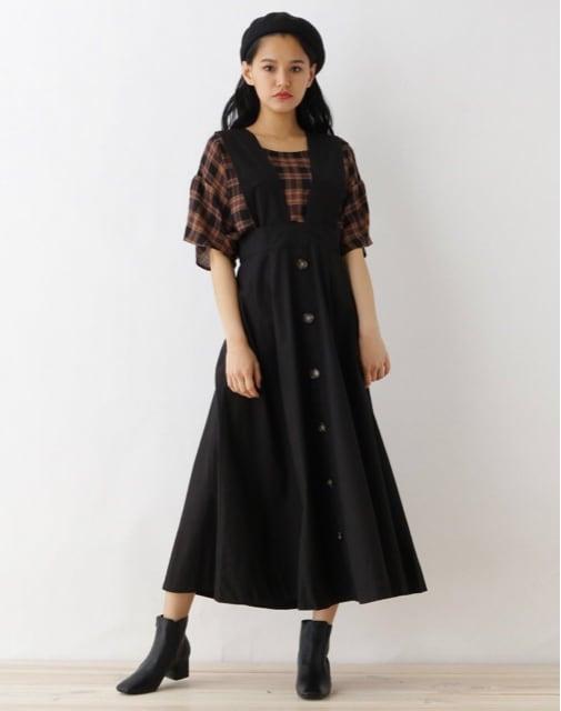 新品☆OZOC(オゾック)ハイウエスト3WAYジャンパースカート☆  < ブランドの