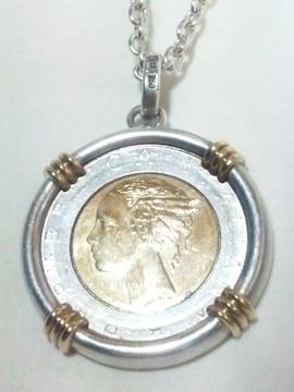 18金 SILVER 750 925 ITALIANA REPVBBLICA コイン ネックレス ペンダント