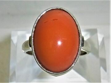 Pt900 プラチナ リング 指輪 サンゴ 珊瑚 9.3g