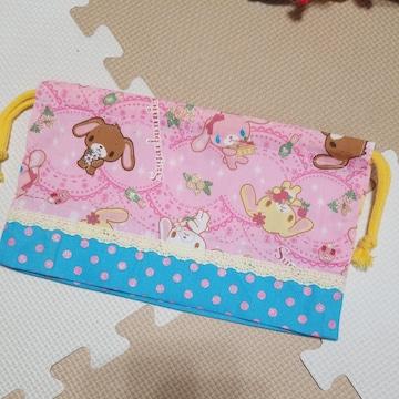 シュガーバニー&キラキラドット★お弁当袋