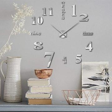 掛け時計 手作り DIY 壁時計 インテリア シルバー