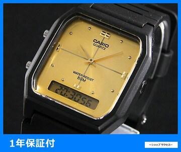 新品 即買い■カシオ アナデジ 腕時計 AW48HE-9A ゴールド