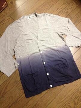 美品TAKEO KIKUCHI グラデーションカーデ タケオキクチ