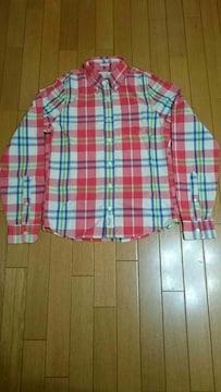 アバクロンビー&フィッチ  長袖マドラスチェックシャツ