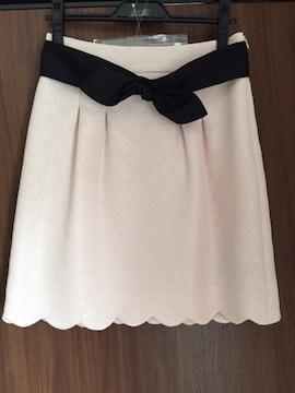 美品 キスミス スカート スカラップ ピンク 薔薇 ローズ