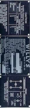 MBジープ コーションプレートセット