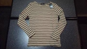 新品 AZUL moussy  ボートネック長袖セーター 柄キャメル S