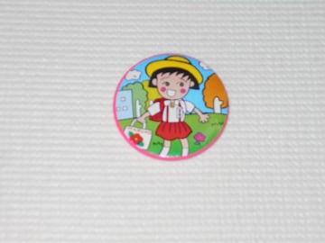 ちびまる子ちゃん 缶バッジ 制服 レトロ