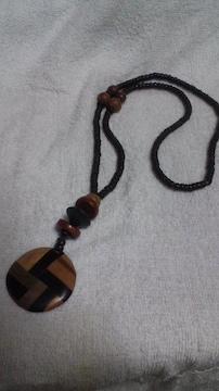 ネックレス 木製  65�p   中古品