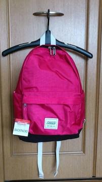 激安65%オフコールマン、マザーズバッグ、多機能リュック(新品、ピンク、23L)