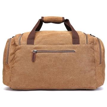 ボストンバッグ 旅行鞄 超大容量 キャンバス 2way コーヒー