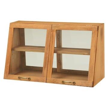 カウンター上ガラスケース(ナチュラル) MUD-6068NA