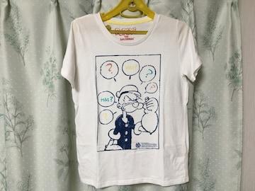 ポパイ 半袖Tシャツ 白色 ホワイト