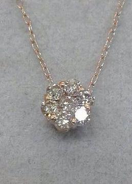 K18PG☆幸運のセブンスダイヤモンド☆0.20ct
