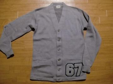 ヴィンテージ 60年代 レタードカーディガン 40 USA−M