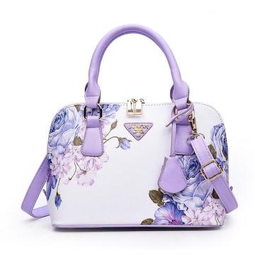 TB37即決 新品 花柄 バッグ 白 紫 サマンサ ピンキー マイケルコース 好きに