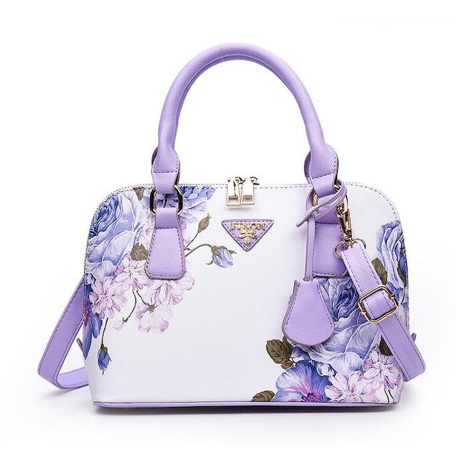 TB37即決 新品 花柄 バッグ 白 紫 サマンサ ピンキー マイケルコース 好きに  < 女性ファッションの