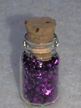 送料無料/キラキラメタリックパープル小瓶詰め込み