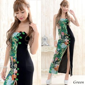 ロングチャイナドレス 衣装 コスプレ キャバドレス チャムドレス